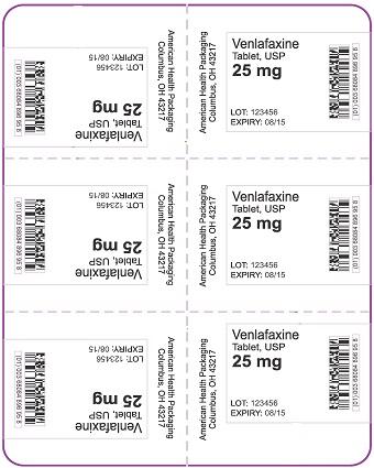 25 mg Venlafaxine Tablet Blister