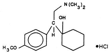Structural formula for venlafaxine