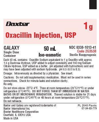 Oxacillin Representative Container Label