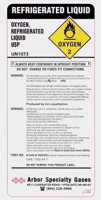 Oxygen Label 4