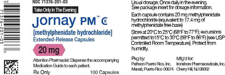 Principal Display Panel - Jornay PM™ 20 mg Bottle Label