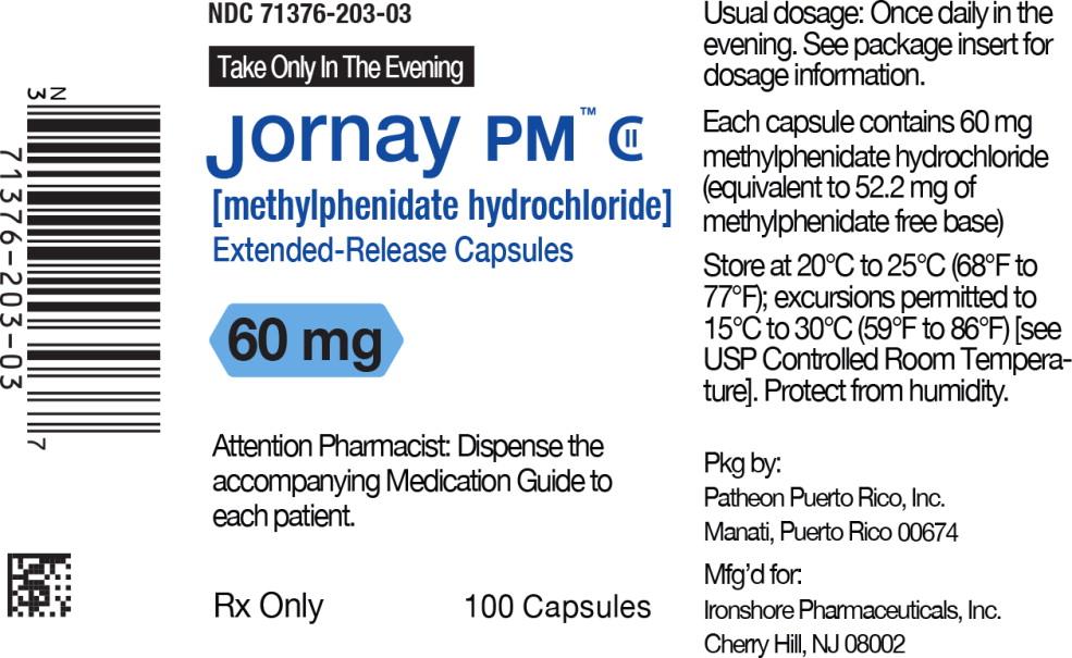 Principal Display Panel - Jornay PM™ 60 mg Bottle Label