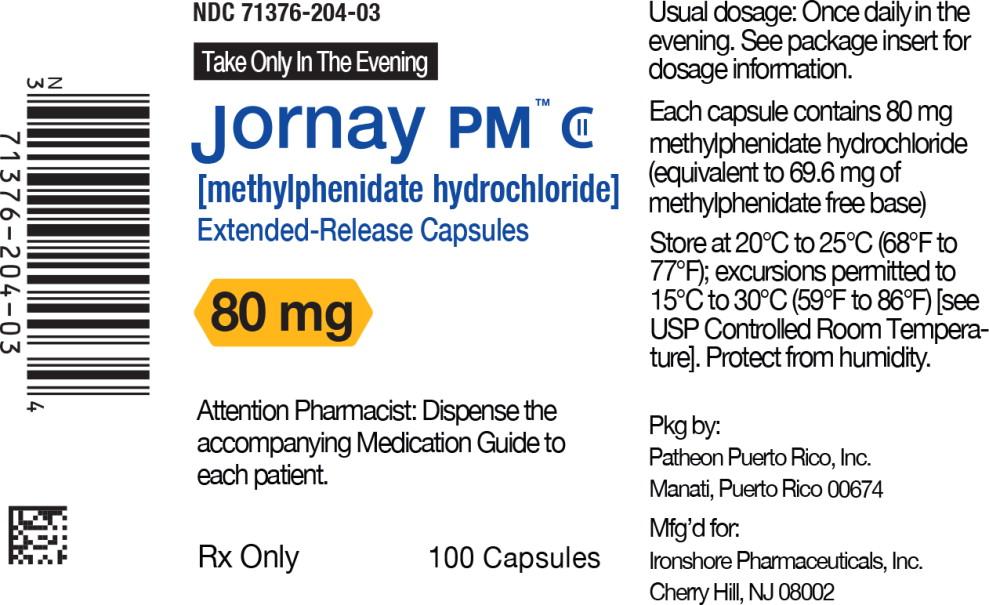 Principal Display Panel - Jornay PM™ 80 mg Bottle Label
