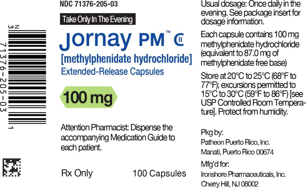 Principal Display Panel - Jornay PM™ 100 mg Bottle Label