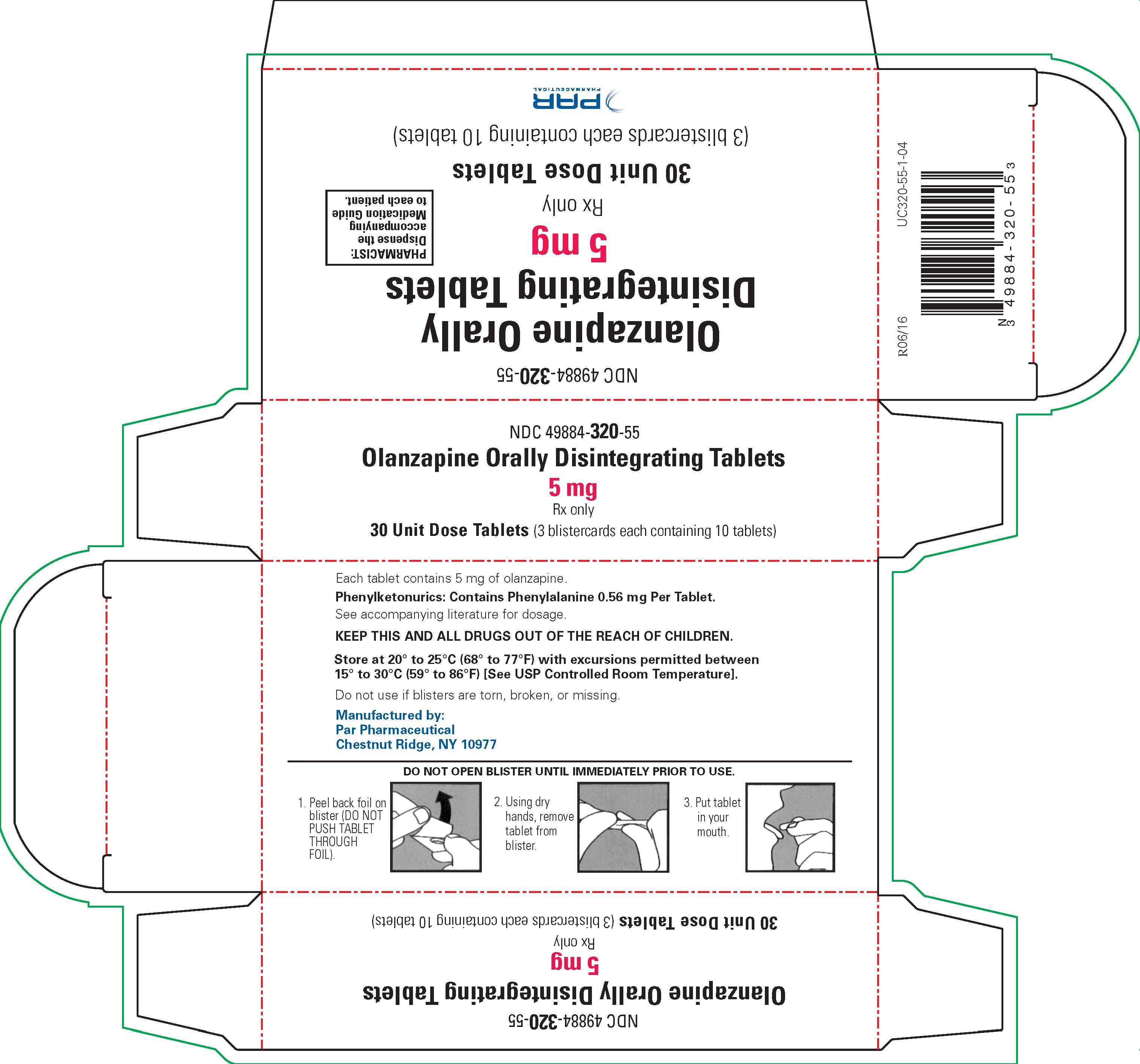 Olanzapine ODT 5 mg - Carton