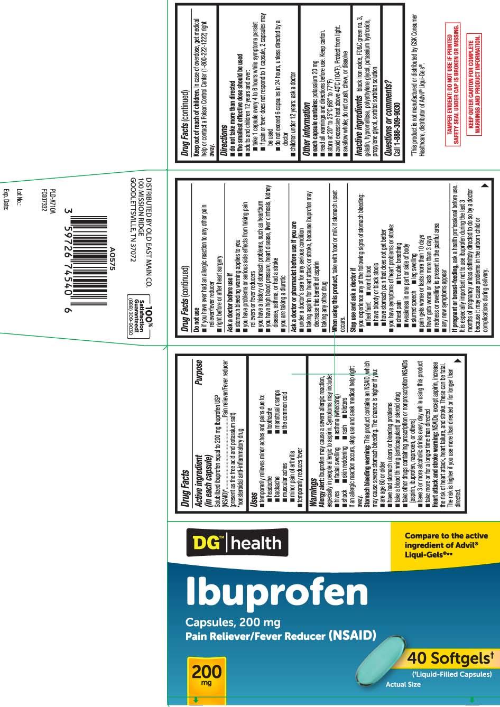 Solubilized ibuprofen equal to 200 mg ibuprofen USP (NSAID)* (present as the free acid and potassium salt) *nonsteroidal anti-inflammatory drug