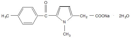Tolmetin Sodium Structural Formula