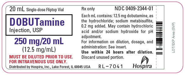 PRINCIPAL DISPLAY PANEL - 20 mL Vial Label - 2344-01