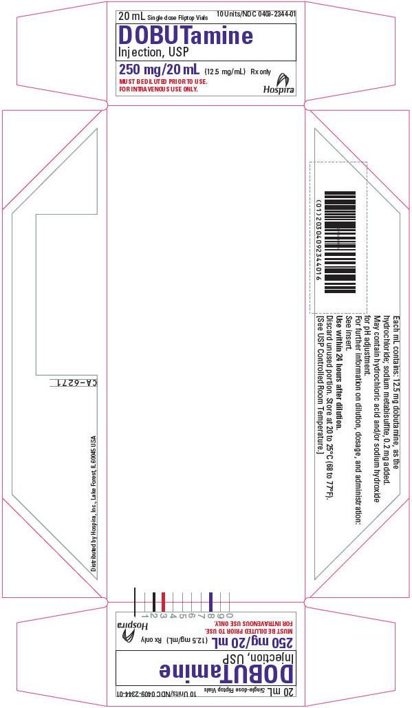 PRINCIPAL DISPLAY PANEL - 20 mL Vial Tray - 2344-01