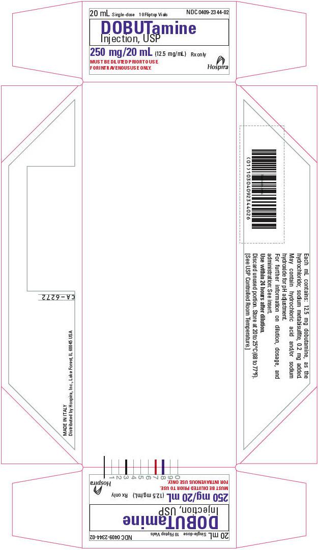 PRINCIPAL DISPLAY PANEL - 20 mL Vial Tray - 2344-02
