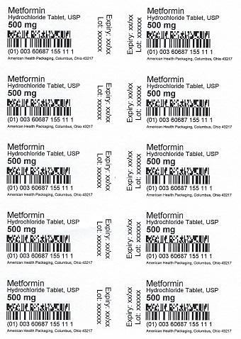 500 mg Metformin HCL Tablet Blister