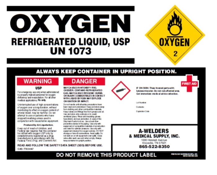 Oxygen Refrigerated Label