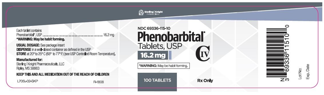 Phenobarbital Tablets 16.2 mg 100 count