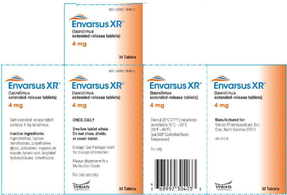 Envarsus 4mg 30 count Carton label
