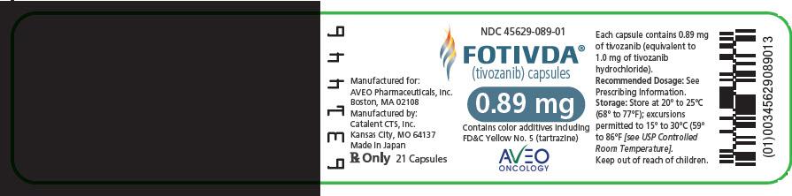 PRINCIPAL DISPLAY PANEL - 0.89 mg Capsule Bottle Label