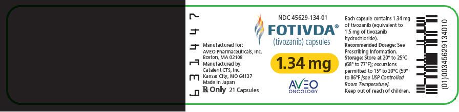 PRINCIPAL DISPLAY PANEL - 1.34 mg Capsule Bottle Label