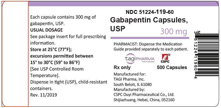PRINCIPAL DISPLAY PANEL - 300 mg Capsule Bottle Label