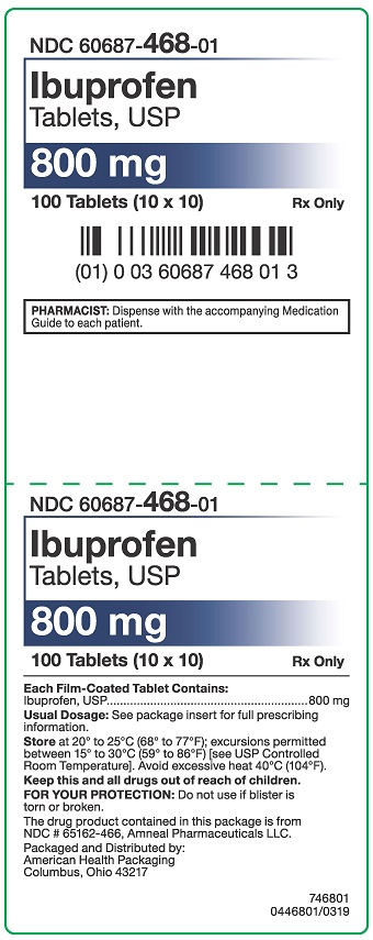 800 mg Ibuprofen Tablets Carton
