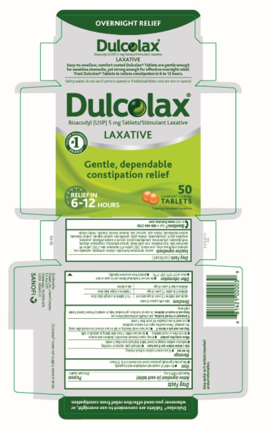 PRINICPAL DISPLAY PANEL Dulcolax LAXATIVE 50 TABLETS