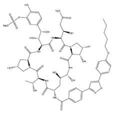 Micafungin sodium structural formula