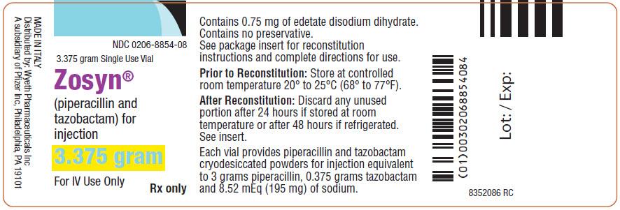PACKAGE LABEL - PRINCIPAL DISPLAY PANEL - 3.375 gram Vial Label