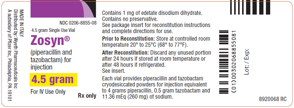 PRINCIPAL DISPLAY PANEL - 4.5 gram Vial Label