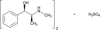 Ephedrine Sulfate Structural Formula