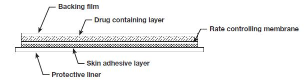 Parts of the fentanyl transdermal system