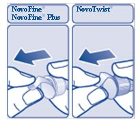Figure F: Pull off the inner needle cap.