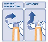 Figure G: Pull off the inner needle cap.