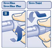 Diagram B: Attaching the needle.
