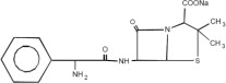 Ampicillin Sodium Structural Formula