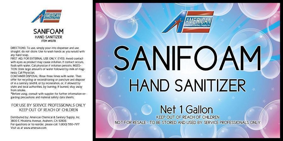 SANIFOAM HAND SANITIZER copy