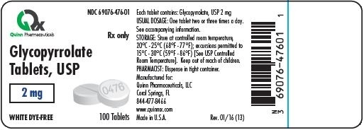 Container Label for 2mg, 100 Count