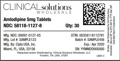 Amlodipine 5mg tablets 30 count blister card