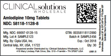 Amlodipine 10mg tablet 30 count blister card