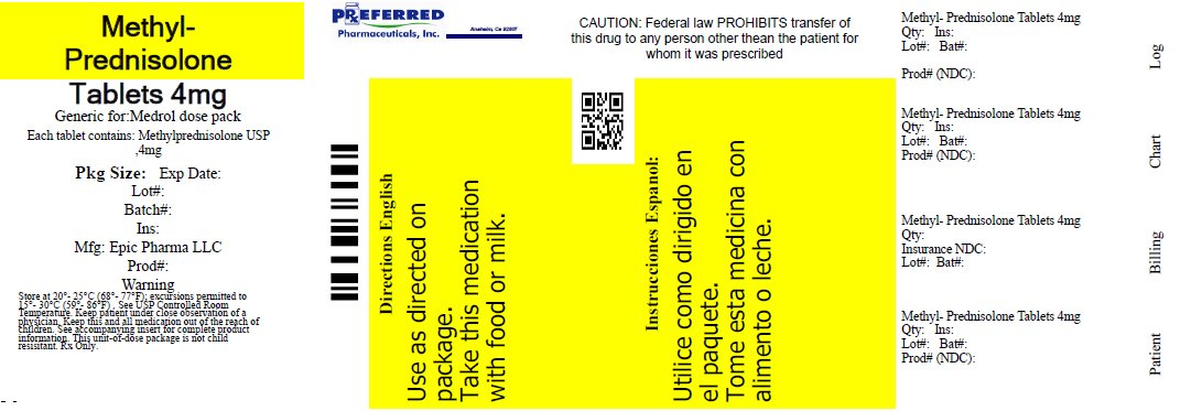 Methyl-Prednisolone Tablets 4mg