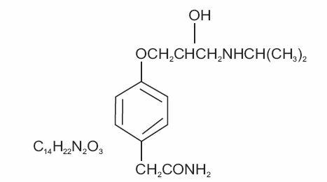 Atenolol Structure