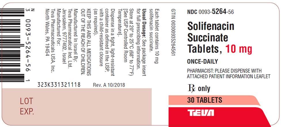 Solifenacin Succinate Tablets, 10 mg, 30 Tablets Label