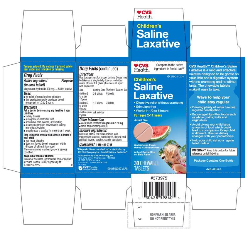 CVS Health Childrens Saline Laxative 30 Chewable Tablets