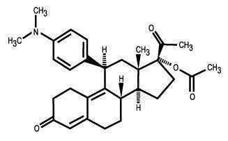 Ulipristal acetate structural formula