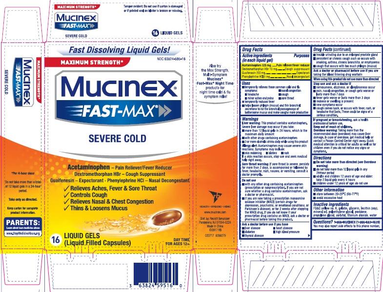 MUCINEX FAST-MAX SEVERE COLD 16ct