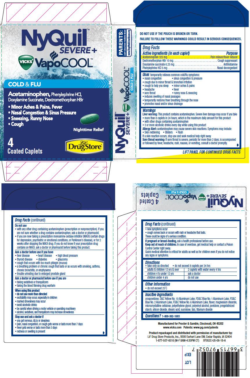 PRINCIPAL DISPLAY PANEL - 4 Caplet Pouch Carton