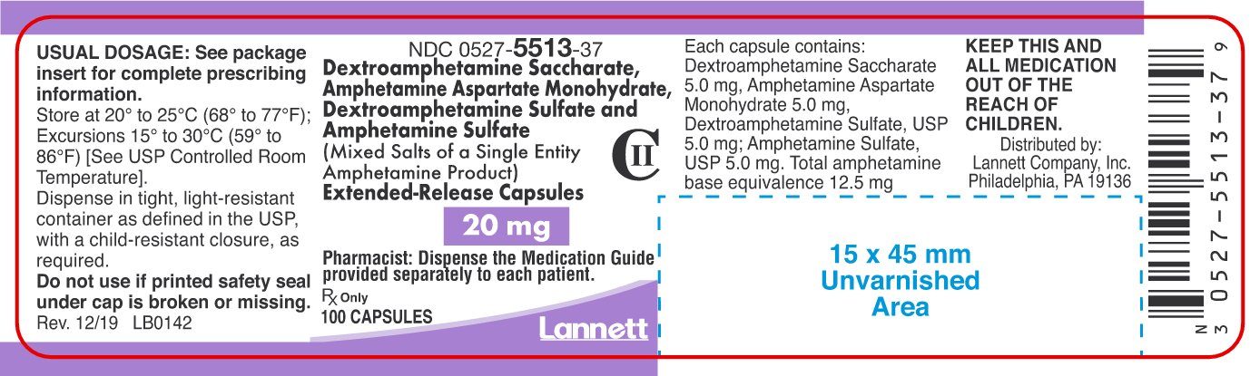 amphetamine-er-container-label-20mg-100ct