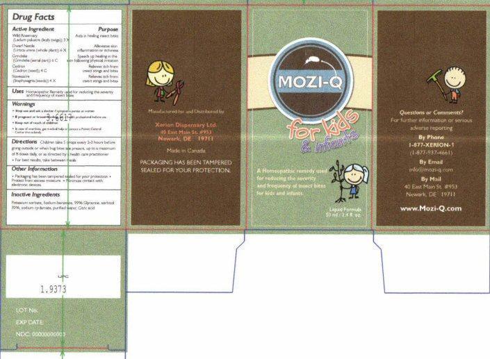 Xerion MoziQ kids1 Label