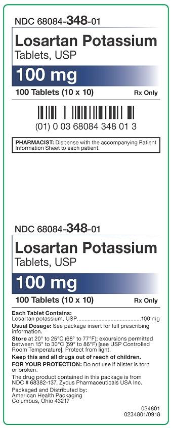 100 mg Losartan Potassium Tablets Carton