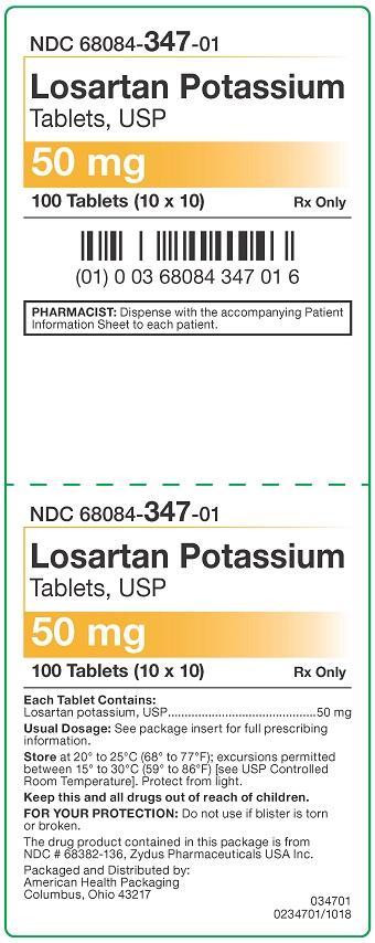 50 mg Losartan Potassium Tablets Carton