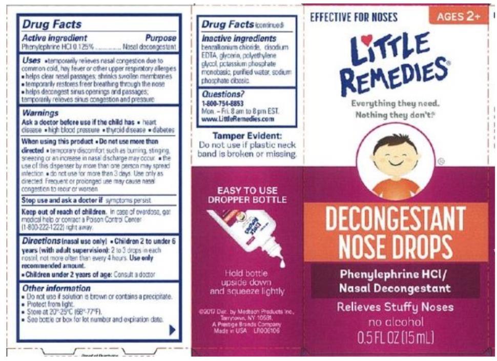 Little Remedies®  DECONGESTANT NOSE DROPS Phenylephrine HCl / Nasal Decongestant  0.5 FL OZ (15 mL)