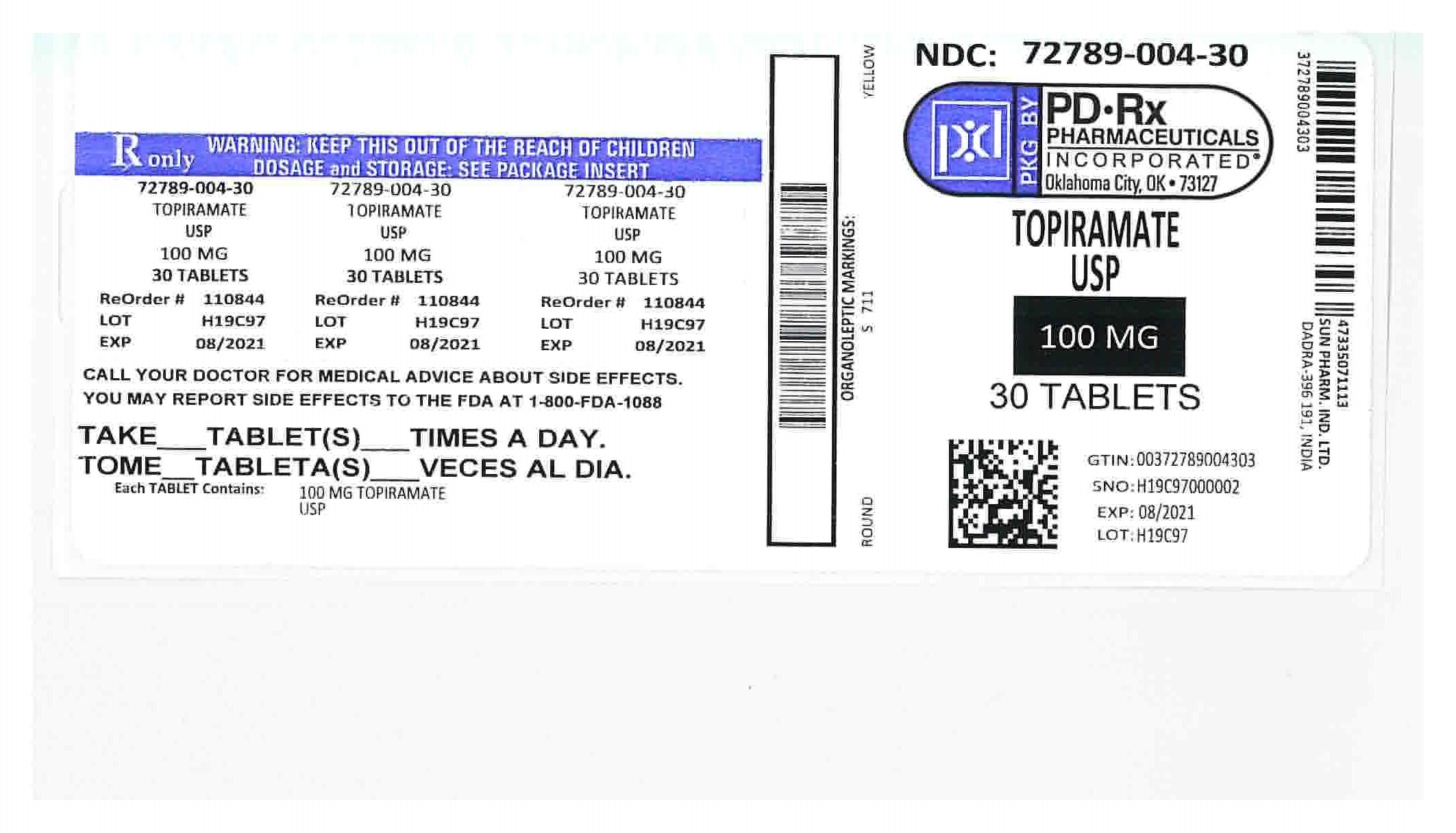 72789004 Label