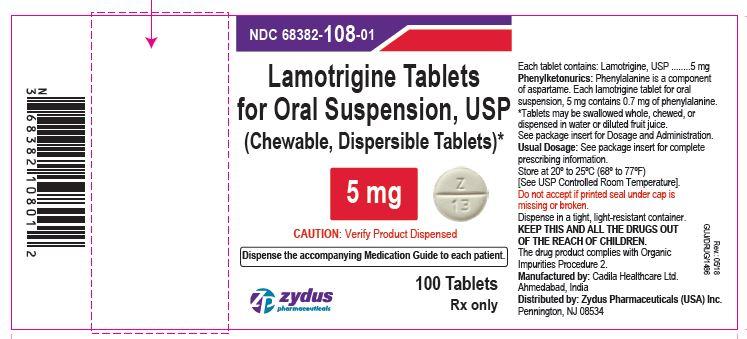 Lamotrigine Tablets (Chewable, Dispersible), 5 mg  Lamotrigine Tablets (Chewable, Dispersible), 5mg